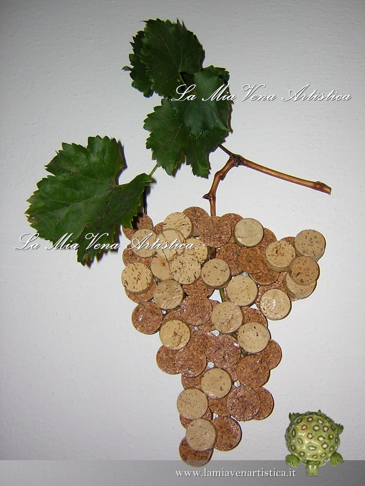 Grappoli d uva in sughero for Opzioni di materiale di raccordo