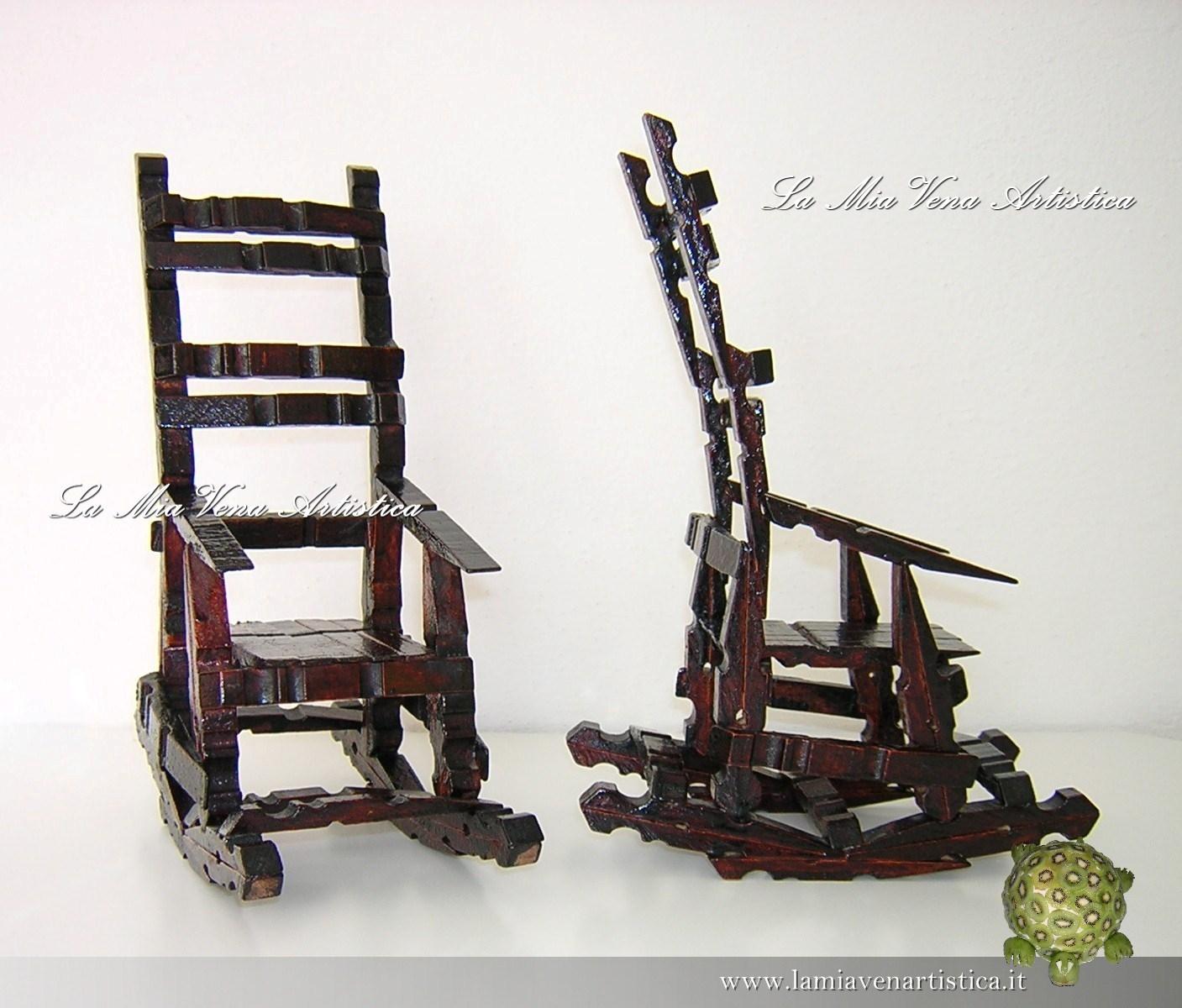 sedia con le mollette di legno idea di casa