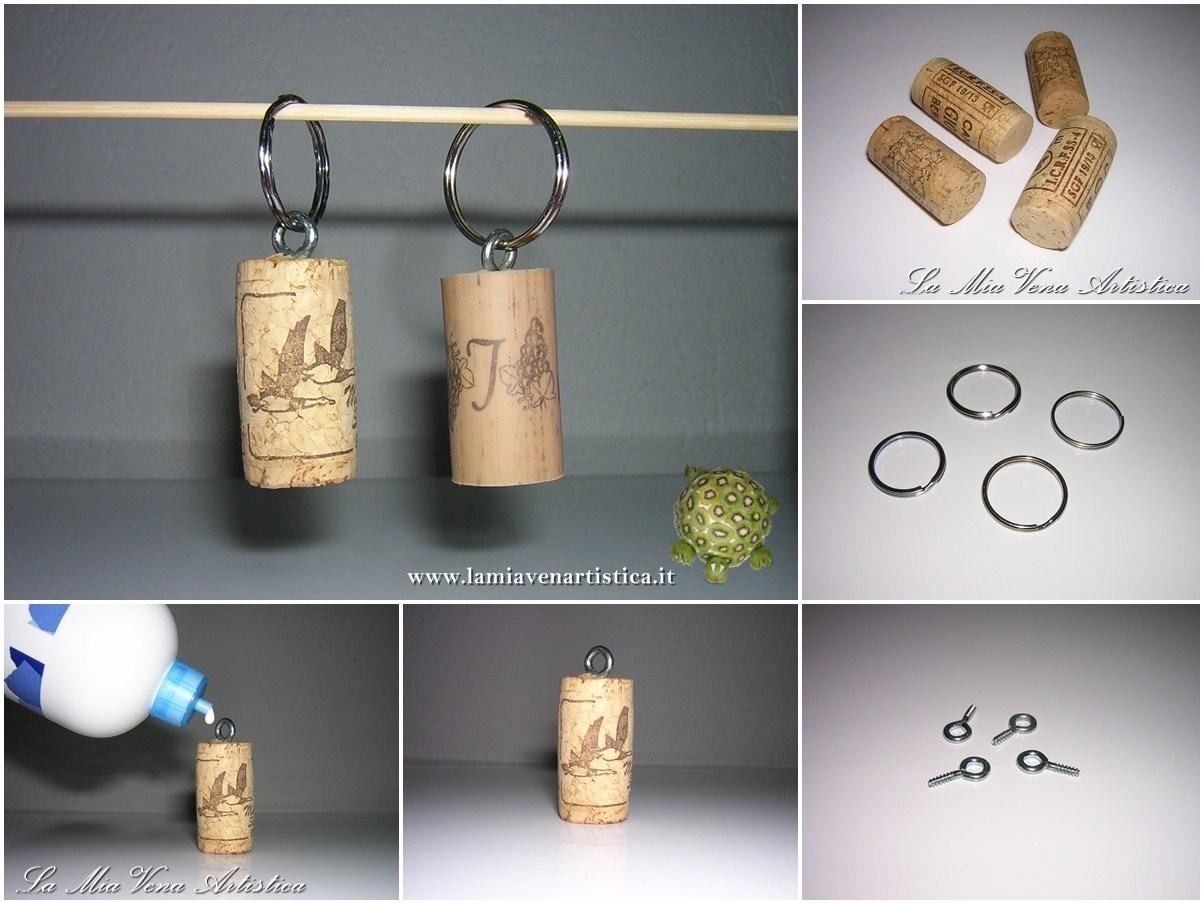 Idee Creative Con Tappi Di Sughero : Portachiavi di tappi in sughero