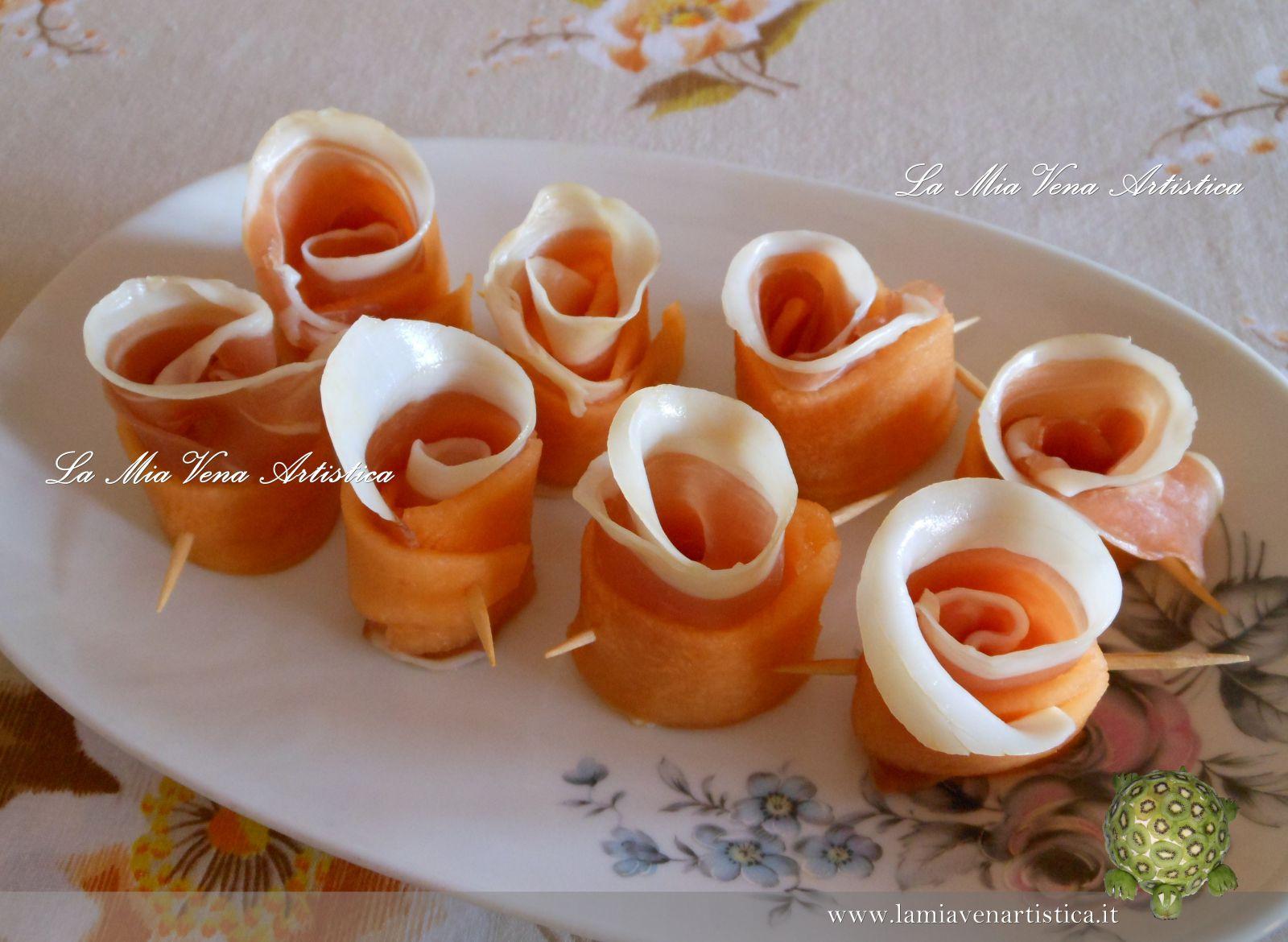 Amato di roselline di prosciutto crudo e melone NB29