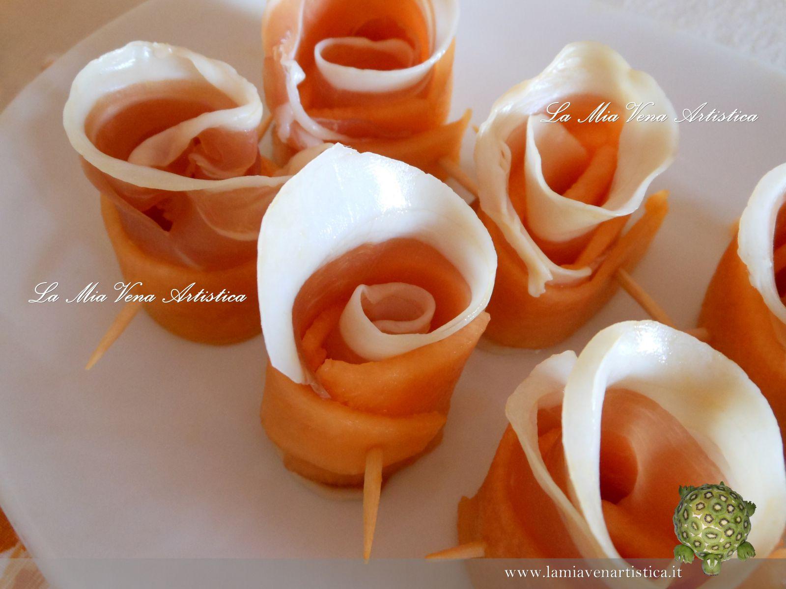 Estremamente di roselline di prosciutto crudo e melone GX44